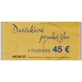 Darčeková poukážka 45 Eur